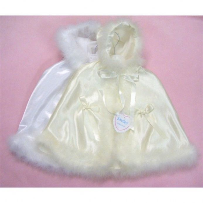 Kinder Collection Christening Cape with Bow Detail